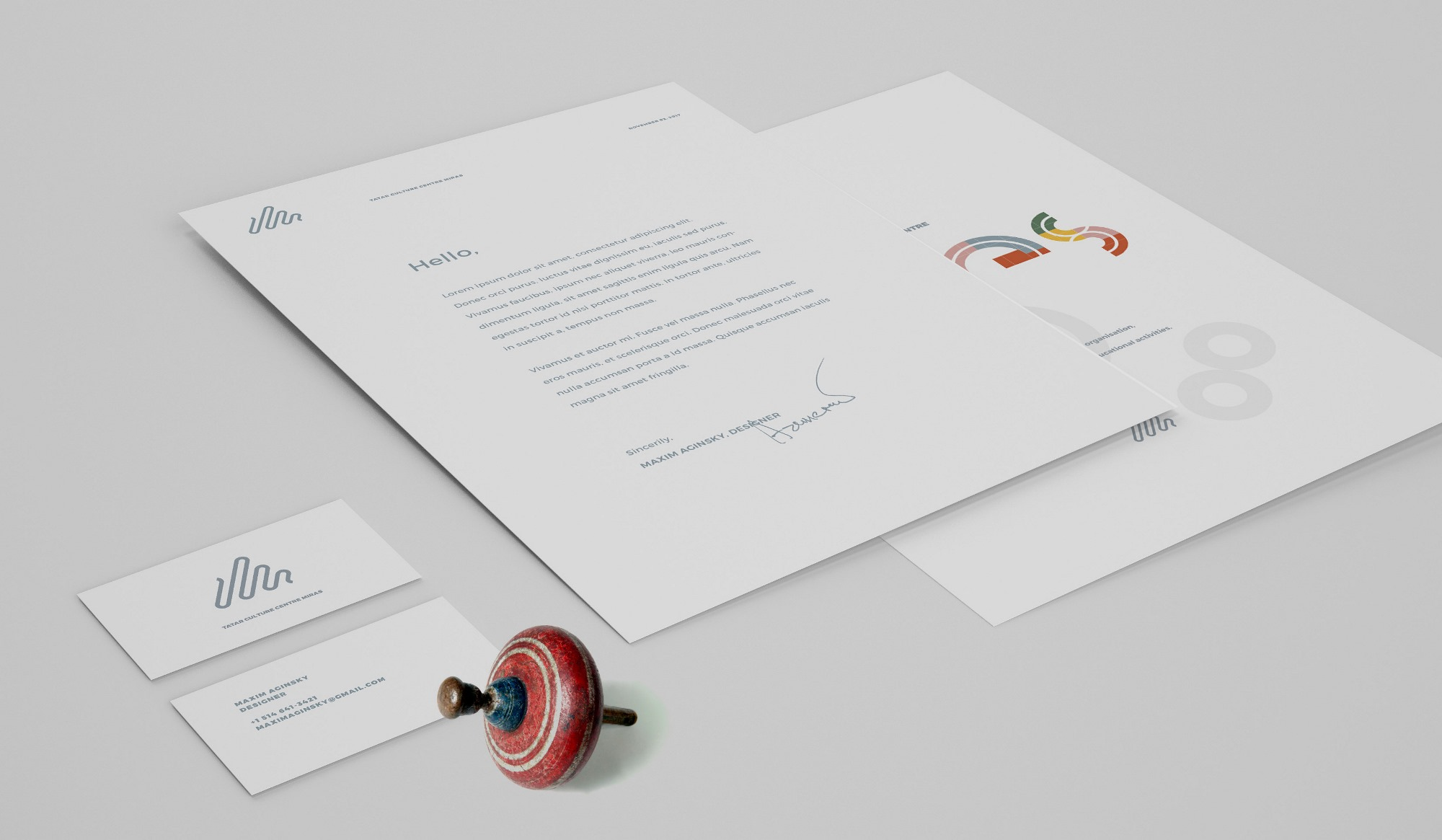 Business card, Letterhead, Booklet cover